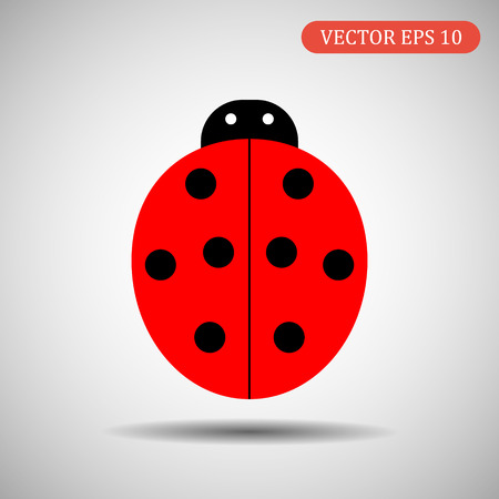 Ladybird icon.Vector illustration