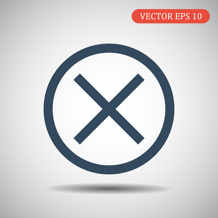 Wrong mark.Vector illustration in flat style.