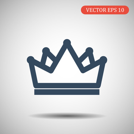 Crown icon in fashionable flat style. Vector illustration