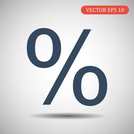 Percent icon. Vector illustration