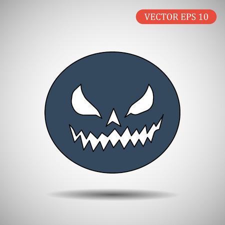 Pumpkin. Helloween. Vector isolated.