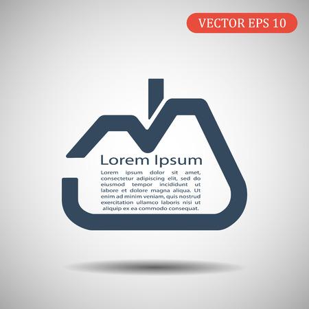 House vector icon.Lorem Ipsum