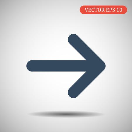 Arrow Icon right.Vector illustration Ilustração