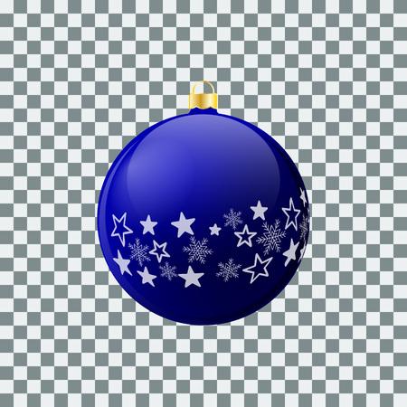Christmas ball - Blue - Decorated design Ilustração