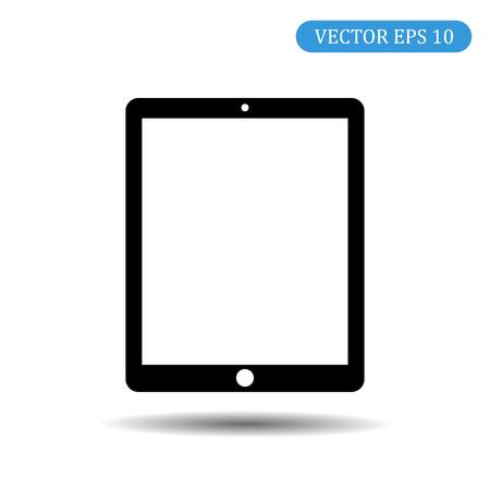 Vector tablet icon. Internet Computer Concept. Fashionable mock-up of vector symbols.