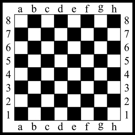 Vector illustration of a chessboard. White and black cells