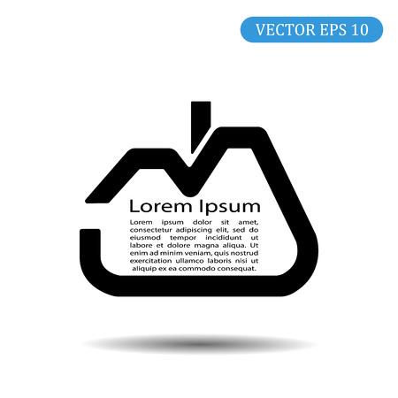 House vector icon.Lorem Ipsum.