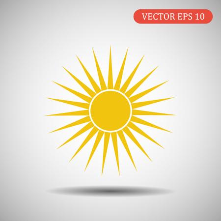Sun icon.Vector eps 10.