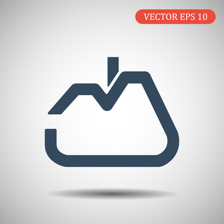 House Icon in trendy flat style isolated on grey background.