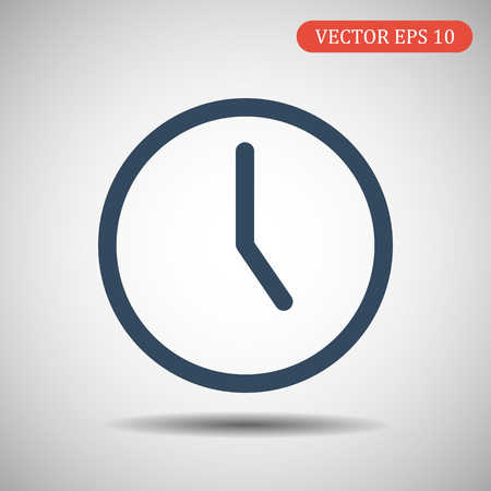 Clock icon. Time icon vector. Ilustración de vector