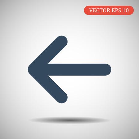 Arrow Icon left.Vector illustration. Ilustração