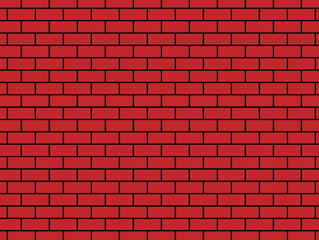 Vector illustration background - brick red color.