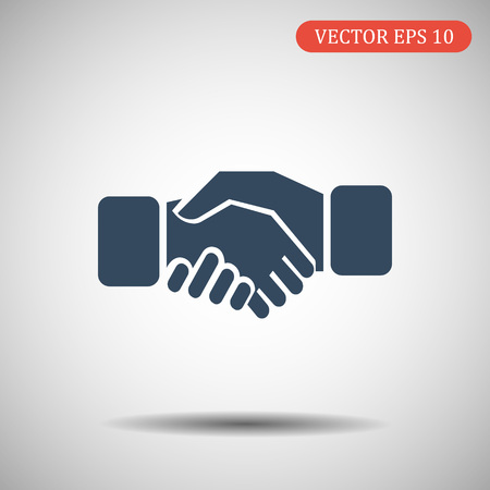 Business handshake icon.vector illustration.eps 10