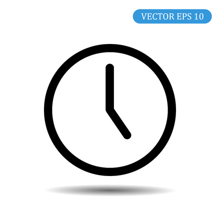 Clock icon. Time icon vector. EPS 10.