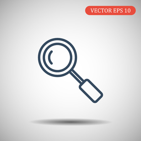 Search Icon in trendy thick line style isolated on grey background. Magnifying glass symbol for your web site design, logo, app, UI. Vector illustration, EPS10 Ilustração