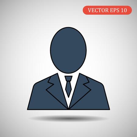 businessman vector icon.eps 10