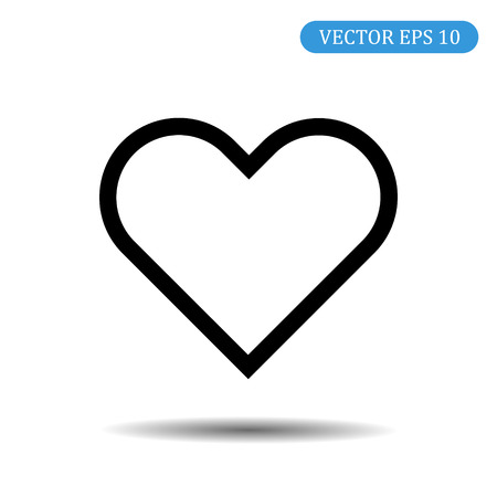 Heart Vector Icon. Love symbol. Valentine's Day badge, emblem, flat style for graphic design and web design, logo. Eps10