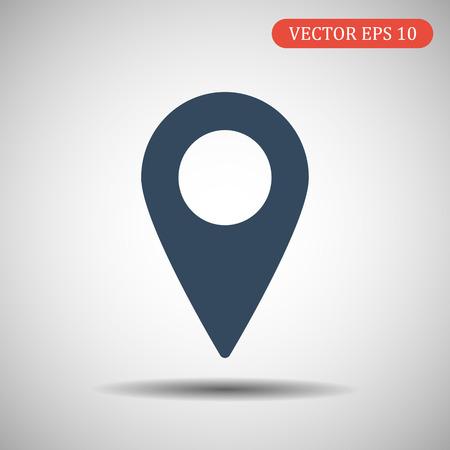 Map pointer icon. GPS location symbol. Flat design style. Vector illustration EPS 10
