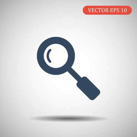 Search Icon in trendy flat style isolated on grey background. Magnifying glass symbol for your web site design, logo, app, UI. Vector illustration, EPS10
