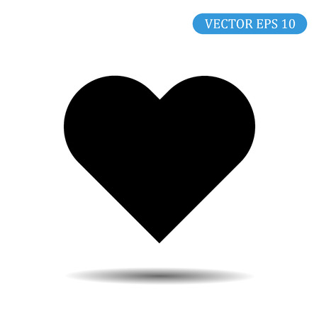 Heart Vector Icon. Love symbol. Valentine's Day badge, emblem, flat style for graphic design and web design, logo. Eps 10
