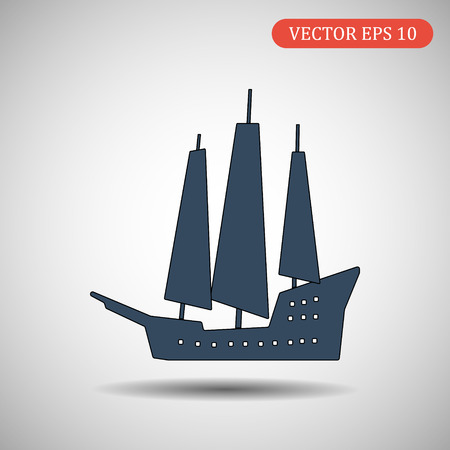 Ship icon isolated on background.