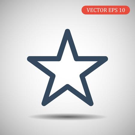 Star Icon.Flat design blue color. Vector illustration eps 10