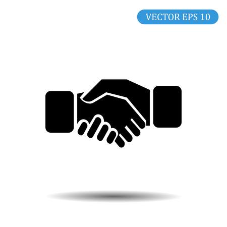Business handshake icon.vector illustration.eps 10. Ilustração