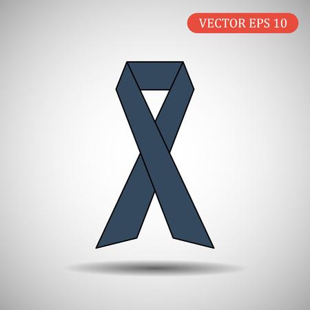 Ribbon flat design. Vector illustration Ilustração
