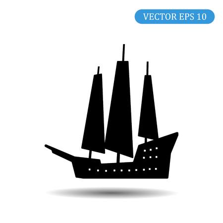 Ship icon.Vector illustration, EPS 10