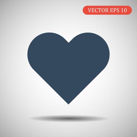Heart Icon.Vector illustration. EPS 10.