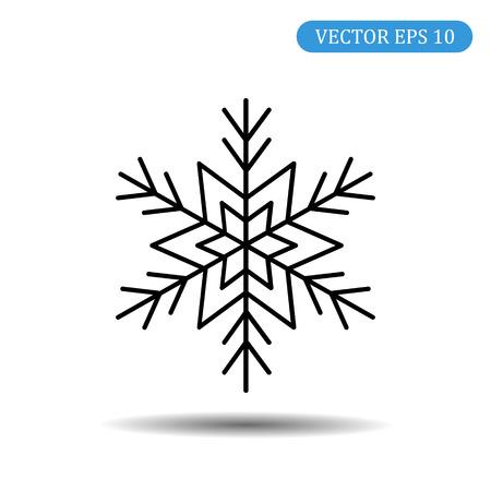 snowflake icon black color.Vector illustration.eps 10.