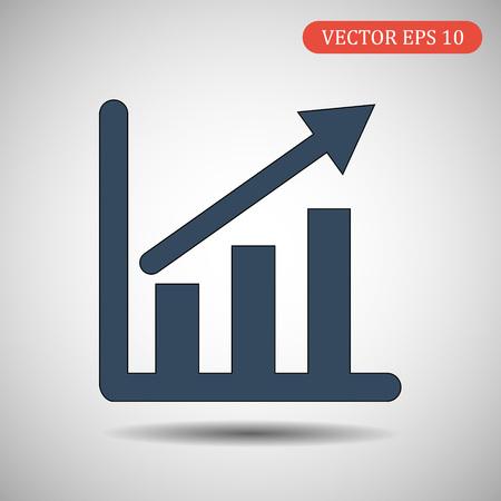 Infografía, icono de gráfico.EPS10.