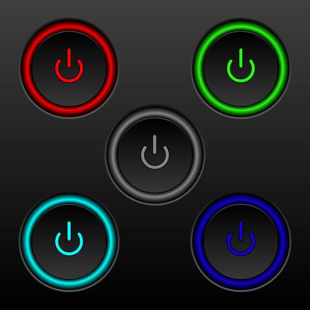 set of buttons on-off.EPS 10 Ilustração