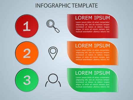 Vector illustration infographics 3 options. Template for brochure, business, web design eps 10.