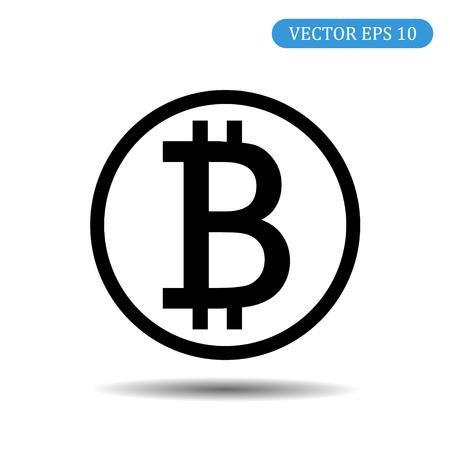 bitcoin coin icon. vector illustration eps 10.