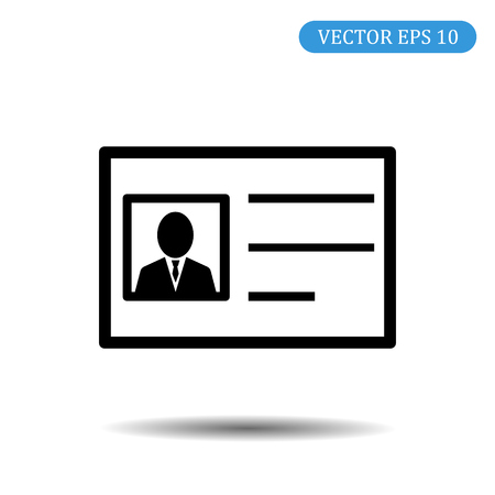 Driving license Iicon. Vector illustration eps 10