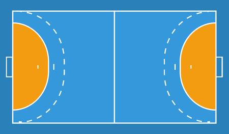 handball field background. vector illustration eps 10.