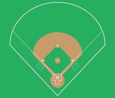 baseball field background. vector illustration eps 10. Ilustração