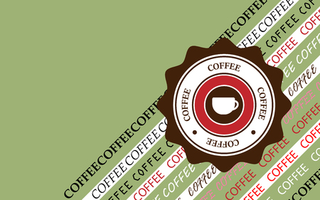 coffee background retro style. vector illustration eps 10 Ilustração