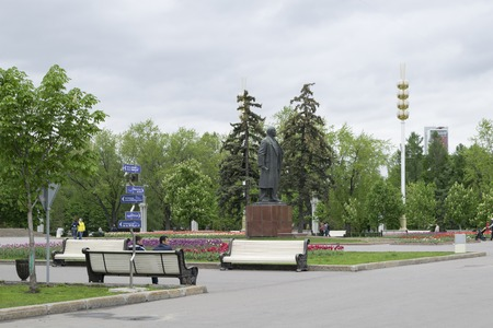 made russia: A statue of Lenin on the central avenue of AllRussian Exhibition Centre