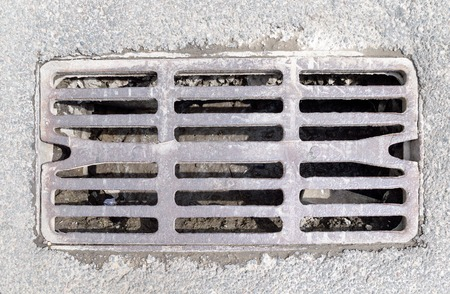 grid: Grid for drainage Stock Photo