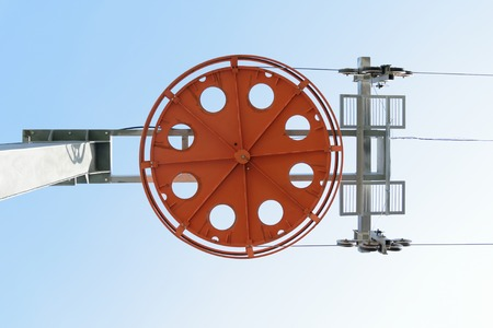 Design of the main ski lift support electric. Bottom view