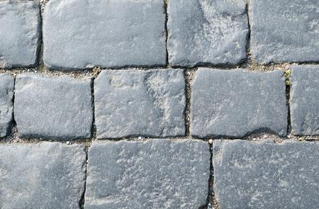 Background of rectangular paving cobblestones of square.