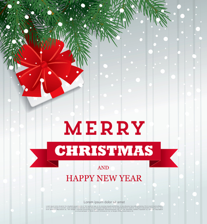 greeting: Christmas Greeting Card. Vector Illustration