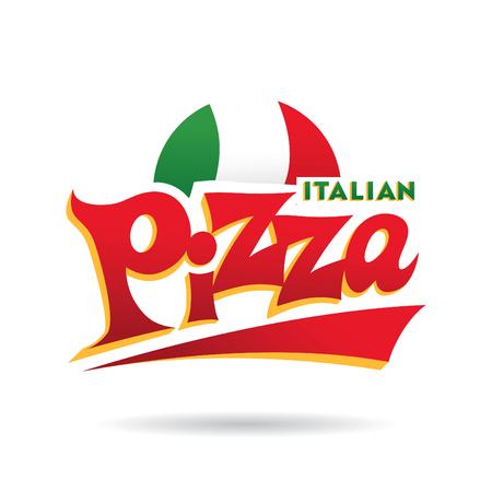 이탈리아 피자 로고 일러스트