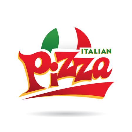 pizza: logotipo de la pizza italiana Vectores