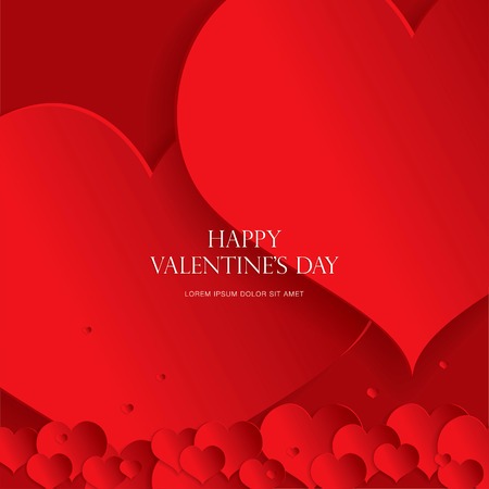 the red banner: Valentines greeting card