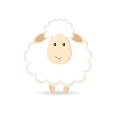 Leuke cartoon schapen. vector illustratie Stock Illustratie