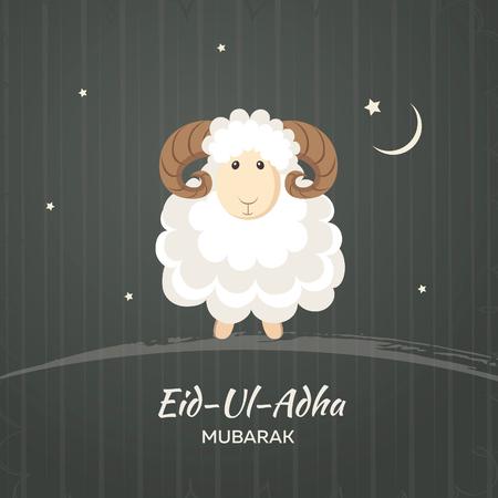national symbol: Greeting card for Muslim Community Festival of Sacrifice Eid-Ul-Adha. Vector illustration