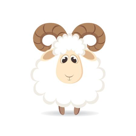 かわいい漫画の羊。ベクトル図 写真素材 - 54252481